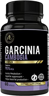 iPro Supplements 100% Pure Garcinia Cambogia Extract 60 Capsules for Weight Loss, Fast Diet, Lose Burn Belly Fat, Natural Dietary Pills 95% HCA Metabolism Booster Carb Blocker Curb Appetite