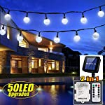 iihome, 36ft(11M) 60 LED String Outdoor IP65 Waterproof Solar Powered Crystal Ball Decorative Lighting 8 Modes for… 16