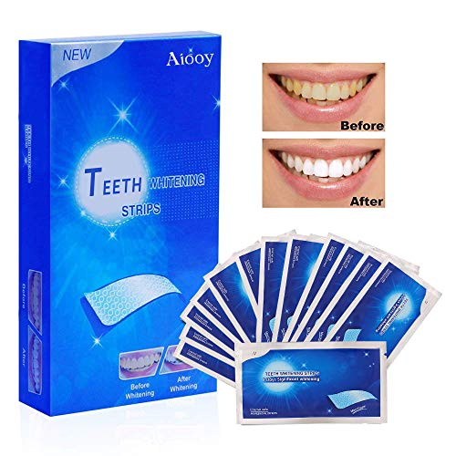 Teeth Whitening Strips, Teeth Whitener Strips, White Strips, Safe Effective Teeth Bleaching, Professional Remover of Teeth Stain,14 Pouches 28pcs
