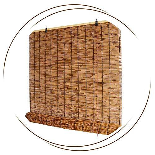 JXJ Persianas de bambú-Persianas de Ventana-Cortina de caña, Interior/Exterior, persiana Romana, terraza/jardín/pérgola, con Elevador, 50x60cm / 20x24in