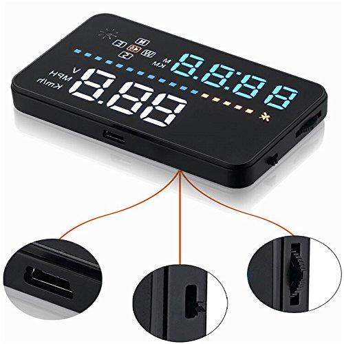 New Universal 8,9 cm Car A3 HUD Head Up Display avec OBD2 Interface Plug & Play suis-je Vitesse du véhicule, vitesse du moteur, température de l'eau