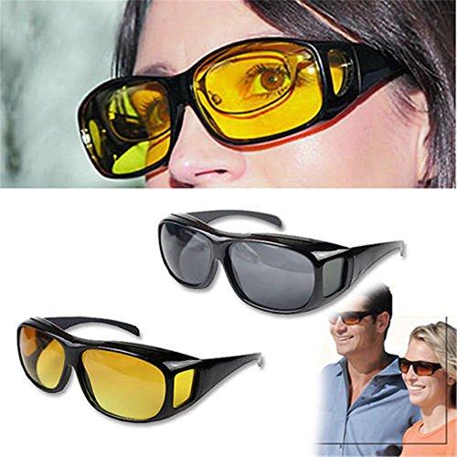 Boolavard Night Sight Night Driving Over Glasses UV Wind Protection (Grey Lens)