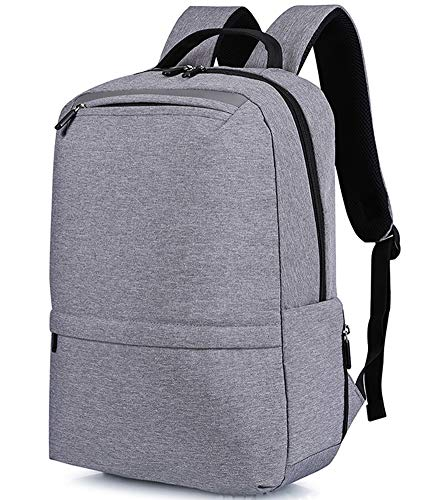 ZWFPJQD Travel Laptop Backpack 15 Inch Large Computer Backpack Stylish College Backpack with USB Charging Port Rucksack Daypack for School/Business/Work/Men/Women,Gray 15in