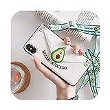 iphone11 p30用ストラップ保護スリーブ付き電話ケースクリエイティブフルーツ挿入可能カード財布ホルスター、ホワイト[同じストラップ付き]、vivo NEX指紋