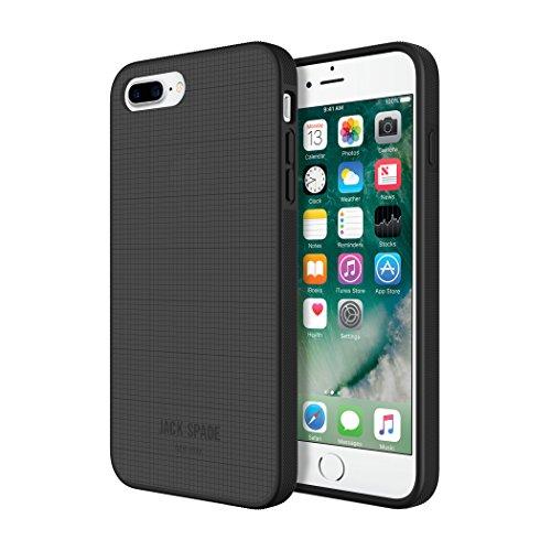 Jack Spade Tech Oxford - Funda para iPhone 7 Plus (con Tarjetero), Color Gris y Negro