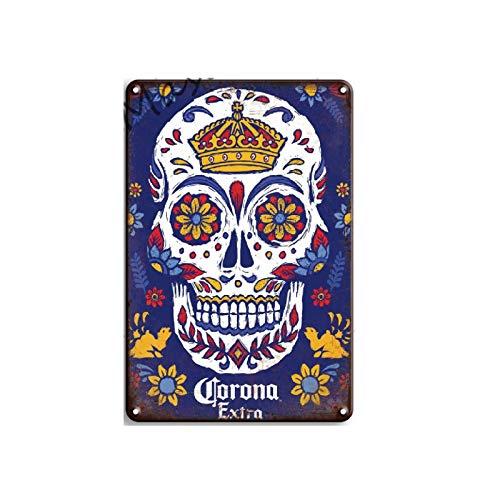 Cartel de Metal Retro de cerveza Bacardi, cartel de chapa, Bar, cafetería, cueva, hogar, decoración de pared, póster 20x30cm 19
