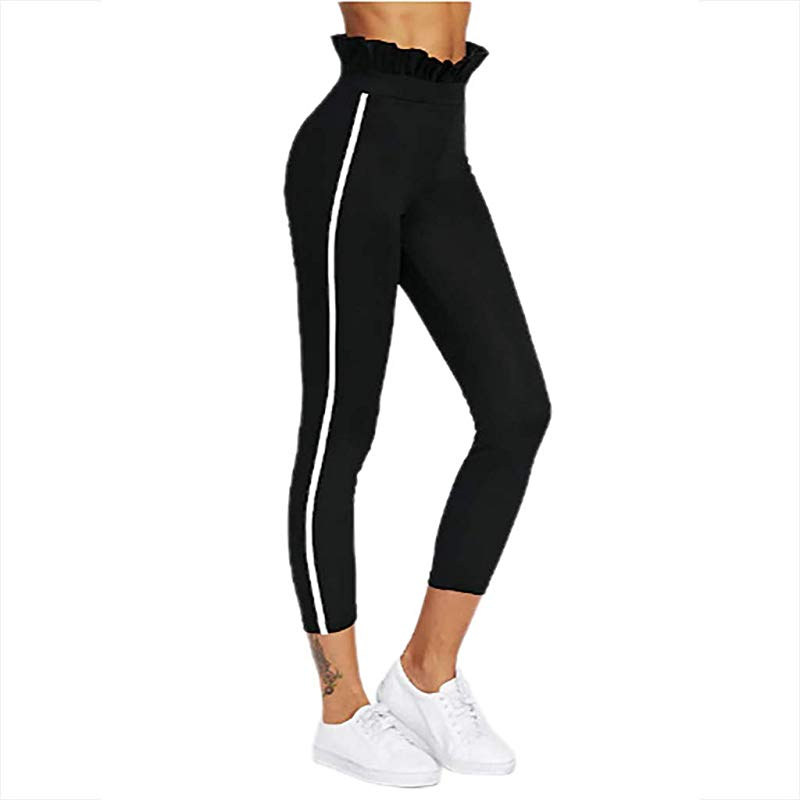 Yetou Women S Workout Pants Yoga Pants Pure Color Breathable Slim Hip Exercise Running Yoga Pants