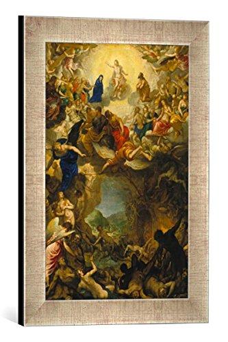 Gerahmtes Bild von Johann Rottenhammer Das Jüngste Gericht, Kunstdruck im hochwertigen handgefertigten Bilder-Rahmen, 30x40 cm, Silber Raya