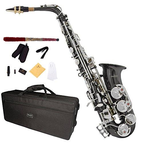 Mendini MAS-BNN para saxofón Alto - negro/níquel