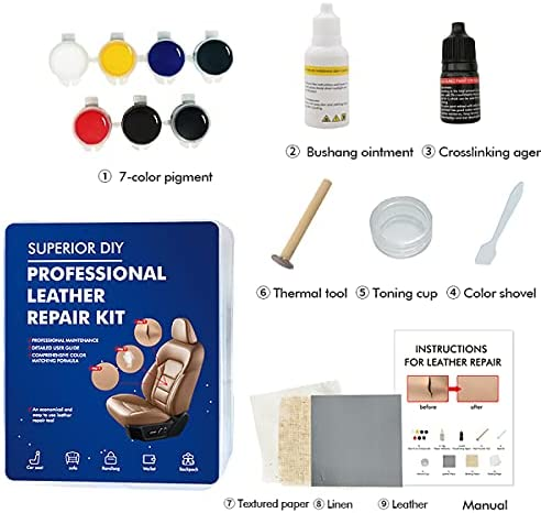 XTryfun Vinyl and Leather Repair Kit –...