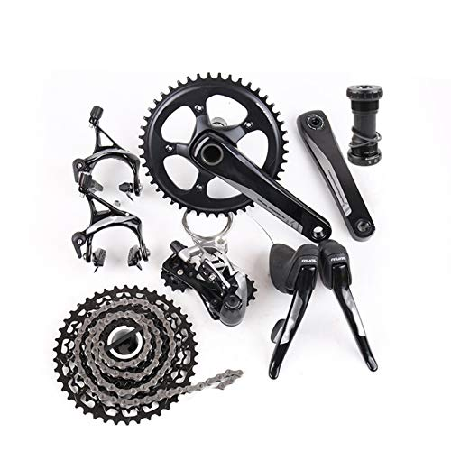 CRFYJ Speed 11S 38T 42T 46T 170mm 172.5mm Road Bicycle Groupset Kit de Bicicleta GXP (Bottom Bracket : GXP, Crank Arm Length : 172.5mm)