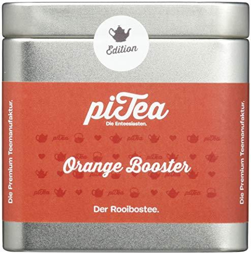 Pi Tea Orange Booster Dose, Rooibostee, Teestation, natürlich und vegan, 2er Pack (2 x 75 g)