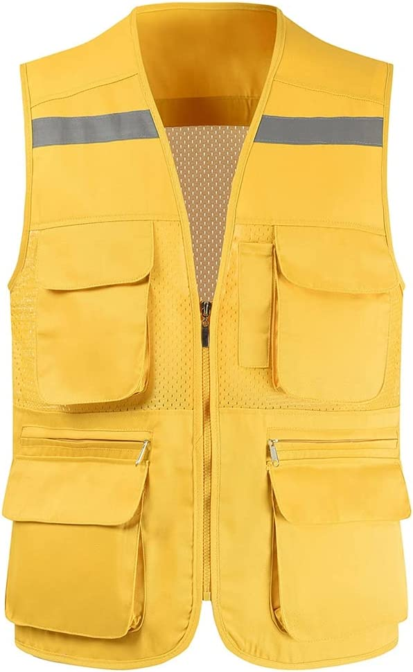 lhl Bright Reflective Vest High Pock online shop Multifunctional Safety and trust Zipper Mesh