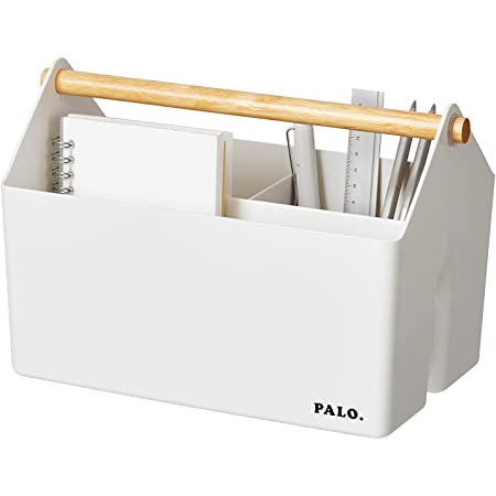 【LITEM.日本公式店】パロバスケット 4.5L 2Pセット (アイボリー) 収納ボックス 小物収納 小物入れ 収納ケース ソートボックス 仕切り 取っ手付き 多目的【Amazon.co.jp単独】