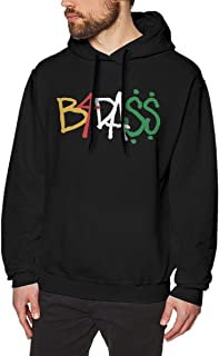 NANCYAA Men's Joey Badass B4dass Logo No Pocket Pullover Cool Hooded Sweatshirt Black