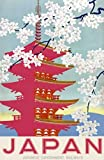 Theissen Vintage Japan Japanese Railway Travel Poster - Matte Poster Frameless Gift 11 x 17 pulgadas (28cm x 43cm) *IT-00186