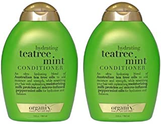 OGX Hydrating Tea Tree Mint Conditioner, 13 Ounce (Pack of 2)