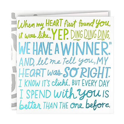 Hallmark Good Mail Birthday Card for Husband, Wife, Boyfriend, Girlfriend (My Heart was So Right) (499RZR1053)