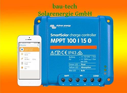 Victron Smartsolar MPPT Laderegler 100/15 15Amper 12V oder 24V inklusiv Bluetooth von bau-tech Solarenergie GmbH