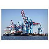 artboxONE Poster 30x20 cm Städte/Hamburg Containerschiff