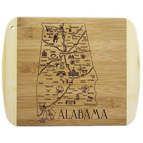 Totally Bamboo A Slice of Life Alabama Bamboo Serving and Cutting Board