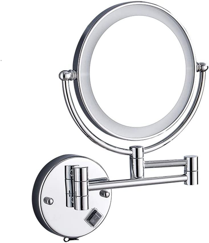 LED mirror Makeup Mirror Wall Mounted 360 Luxury shipfree goods 3X ° Magnification