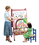 School Specialty Mobile Multi-Purpose Easel, 62 x 30 x 26 Inches, Metal - I-1017