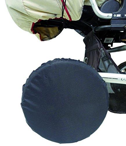 sunnybaby 10800 - Radschutz für Kinderwagen-Räder, Reifenschutz, Schutzhülle/Reifentaschen | bis 14 Zoll / 35 cm Durchmesser | 4 Stück Packung | Nylon - Farbe: SCHWARZ | Qualität: MADE in GERMANY