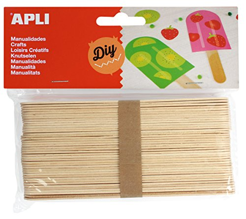 APLI - Bolsa palo polo natural 150x18mm, 40 uds