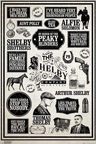 Peaky Blinders Laminiert Infographic Maxi Poster 61 x 91,5 cm