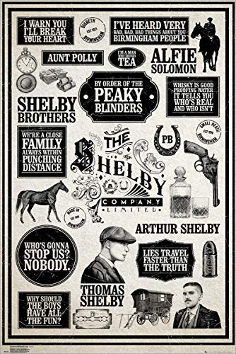 Le maxi poster plastifié Peaky Blinders