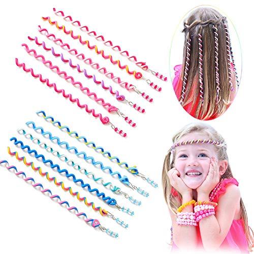 Haar Torsion,Torsion Haarschmuck,Mädchen Haar Styling Twister,Frauen Mädchen 18 Stück Bunte Haar Torsion Haarschmuck mit Strass Haar Accessoires Mehrfarben