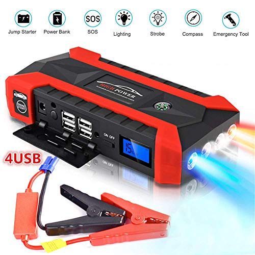SANWAN 20000mAh Car Battery Jump Starter, Portable Outdoor Power Tool Chargers Booster