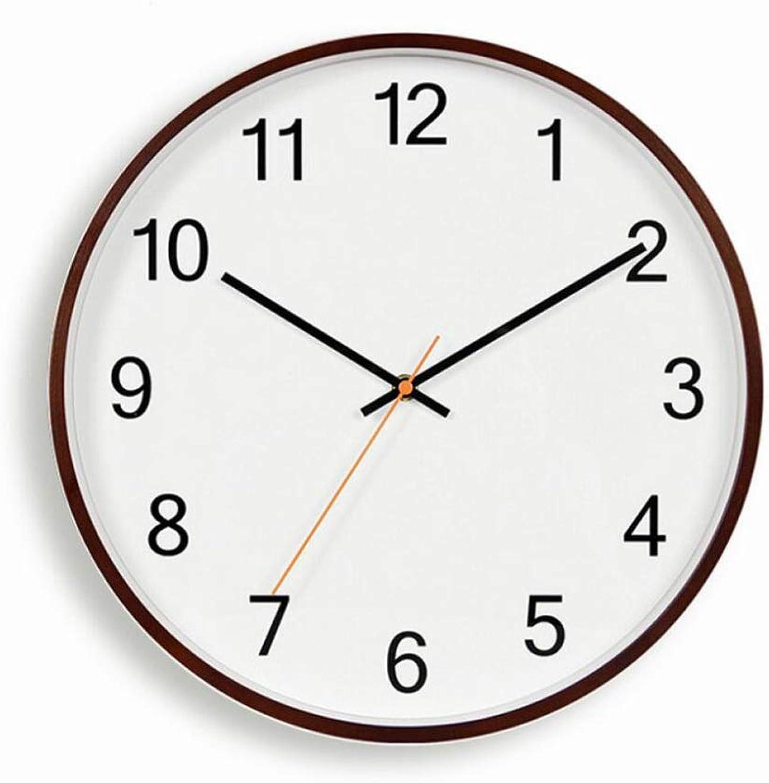 tienda de venta ZHAOHUIFANG Reloj, Reloj De Parojo De 14 14 14 Pulgadas, Sala De Estar, Moderno Reloj De Parojo Silencioso De Madera Digital Minimalista, 4  se descuenta