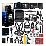 GoPro HERO8 Black Digital Action Camera - Waterproof, Touch Screen, 4K UHD Video, 12MP Photos, Live Streaming, Stabilization - with 50 Piece Accessory Kit + 64GB Memory Card + Extra Battery
