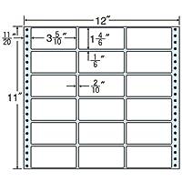 東洋印刷 タックフォームラベル 12インチ ×11インチ 18面付(1ケース500折) M12P