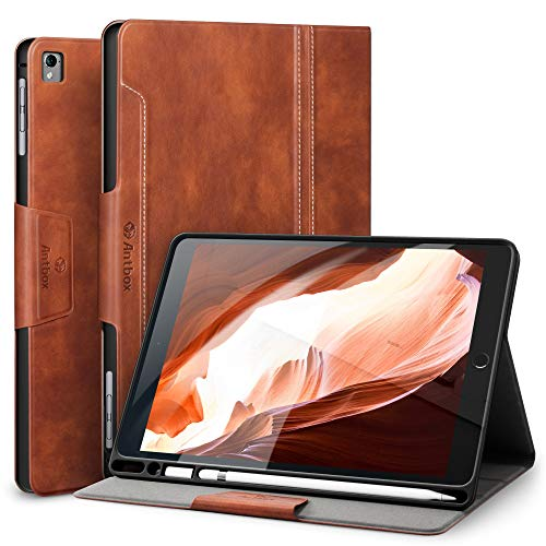 Antbox iPad Hülle für iPad Air 2 /iPad Pro 9.7/ iPad Air 1 mit Apple Pencil Halter Auto Schlaf/Wach Funktion PU Ledertasche Schutzhülle Smart Cover