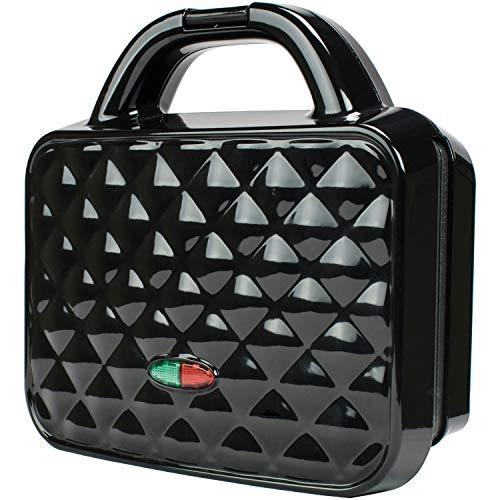 Brentwood TS-239BK Couture Bolsa antiaderente dupla Waffle Maker, preta