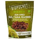 Biopocket - Pasas sultanas ecológicas, 3 bolsas de 500 g