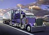 LREFON Puzzle 1000 Piezas Camión púrpura,Jigsaw Puzzles desafiantes Rompecabezas para Adultos/Infantiles