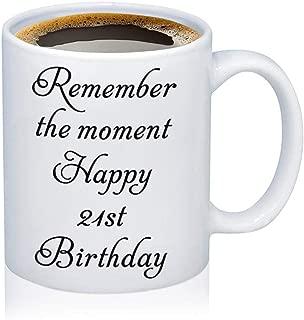 Happy Birthday Coffee Mug Gift 21st 30th 40th Birthday Gift Birthday Cup for Grandma, Mom, Dad, Sister, Aunt, Brother, Girlfriend, Boyfriend (12oz-21st Birthday)