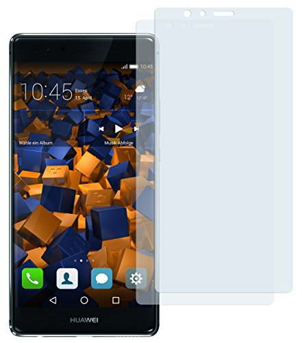 mumbi Schutzfolie kompatibel mit Huawei P9 Plus Folie klar, Bildschirmschutzfolie (2X)