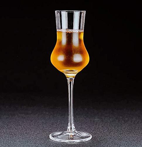 VYEKL Becher Whisky Glas Kristall Geruch Geschmack Weinglas Test Cup Brandy Cup Weinprobe Getränke mit Deckel Winebowl 100ml
