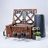 Arkmiido las cestas de picnic the retro classic para 4 personas traen un maravilloso fin de semana a mi familia