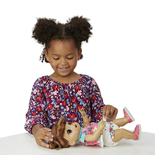 Baby Alive Step 'N Giggle Baby Brown Hair Doll with Light-Up Shoes, Responds with 25+ Sounds