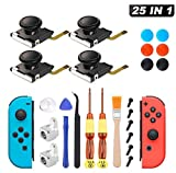Joy Con Mando Nintendo Switch 25 PCS Sendowtek Reemplazo de 3D Joystick Analógico para Switch Pro Lite 4 ThumbStick