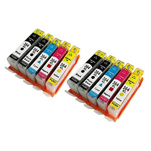 Reemplazo de Cartuchos de Tinta Compatible YLC 2SETS 364XL para HP 364 XL Deskjet 3070A 5510 6510 B209A C510A C339A Impresora (Color : 10pk)