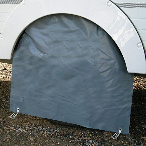 Radabdeckung für Wohnwagen aus strapazierfähigem Polyester 65 x 21 cm • Caravan Wohnmobil Radkasten Abdeckung Radkastenschürze