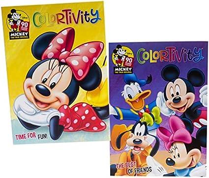 Amazon Com Libro De Actividades Disney Junior Minnie Y Mickey Mouse Colortivity Set Para Niños Pequeños Juego De 2 Libros Para Colorear Time For Fun Y The Best Of Friends Toys