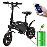 350W Folding Portable Electric Bike with 36V 6AH Lithium-Ion Battery Aluminum Bluetooth Control...